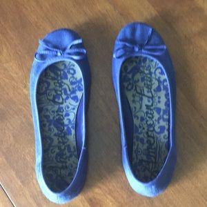 Indigo blue ballet flats sz 9
